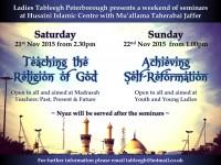 Tableegh Ladies Seminars November 2015