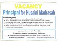 principal vacancy